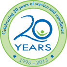 Celebrating 20 years of service and excellence