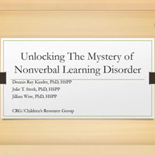 Unlocking the Mystery of Nonverbal Learning Disorder
